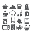 Kitchen and Cooking Icons vector image vector image