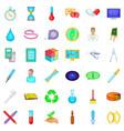 laboratory icons set cartoon style vector image vector image