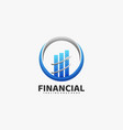 logo financial gradient colorful style vector image