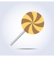 lollipop caramel icon on gray background vector image