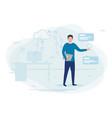 man working cloud technologies vector image