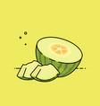 melon open by half vector image vector image