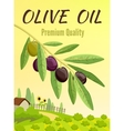 Olive Colored Poster vector image vector image