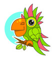 parrot icon isolated on white background design vector image vector image