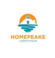 peak real estate logo designs vector image vector image