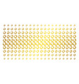 pie chart gold halftone array vector image vector image