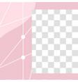 pink floral post cute abstract social media post vector image vector image