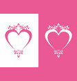 pink love sign with ornament logo vector image