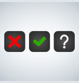 question red x and green tick check marks vector image vector image