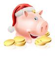 saving for christmas concept vector image vector image