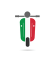 scooter italy vector image