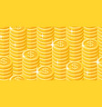 seamless pattern gold coins stack vector image