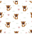 seamless pattern with cute leopard baby animals vector image