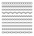 set borders art dividers in geometrical style vector image vector image