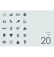 Set of BBQ icons vector image vector image