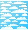 Set of cartoon clouds vector image vector image