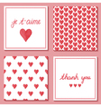 set of cute postcards vector image