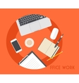 Set of Flat Business Office vector image vector image