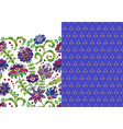 set of horizontal seamless floral pattern and vector image