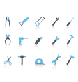 simple hand tool iconscolor series vector image vector image