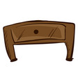 small brown table on white background vector image vector image