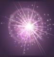 sparks glitter glowingstar burst explosion glow vector image