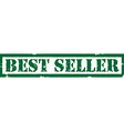 Stamp best seller vector image