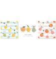 summer fruit cartoons collection kawaii vector image
