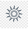 sunlight concept linear icon isolated on vector image