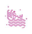 swimming icon design vector image vector image