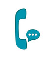 telephone icon with chat bubble vector image vector image