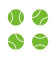 tennis ball flat design icon set