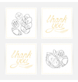 Thank you cards with baking vector image vector image