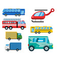 transport delivery isolated white vector image vector image
