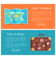 travel planning web pages vector image vector image