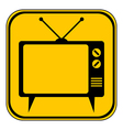 TV button vector image vector image