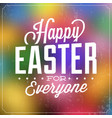 typographic easter card vector image