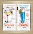 Valentine cocktail party poster Invitation design vector image
