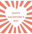 valentine day white heart shape space with vector image vector image