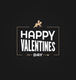 valentines day card cupid angel sign vector image vector image
