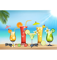 Vegetable juices vector image vector image
