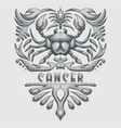 vintage cancer zodiac vector image