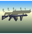 weapons from game pubg vector image vector image