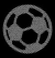 white dotted football ball icon vector image