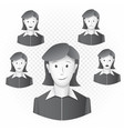 women template with emotions vector image