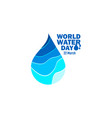 world water day template design vector image