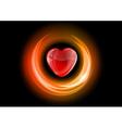 heart neon light dark orange vector image