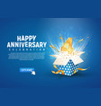 4 th year anniversary banner with open burst gift vector image vector image