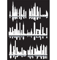 abstract cityscapes vector image vector image