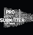 article submitter pro review text background word vector image vector image